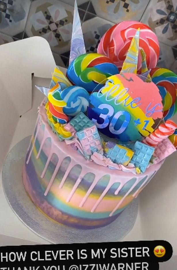 Just look at the cake her sister cooked up!