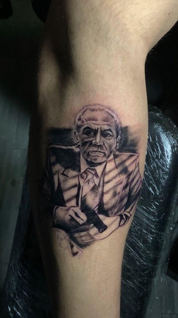Apprentice star Lewis Ellis' tattoo of Lord Sugar