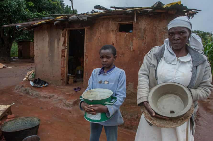 Gift Phiri and his grandmother Rachael Banda