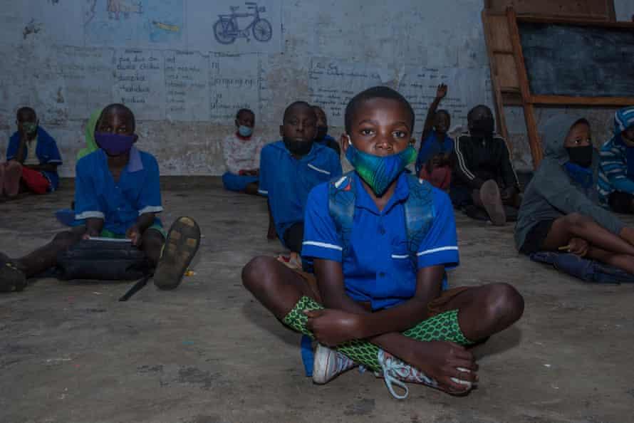 Gift Phiri attends classes at primary school in Mzuzu