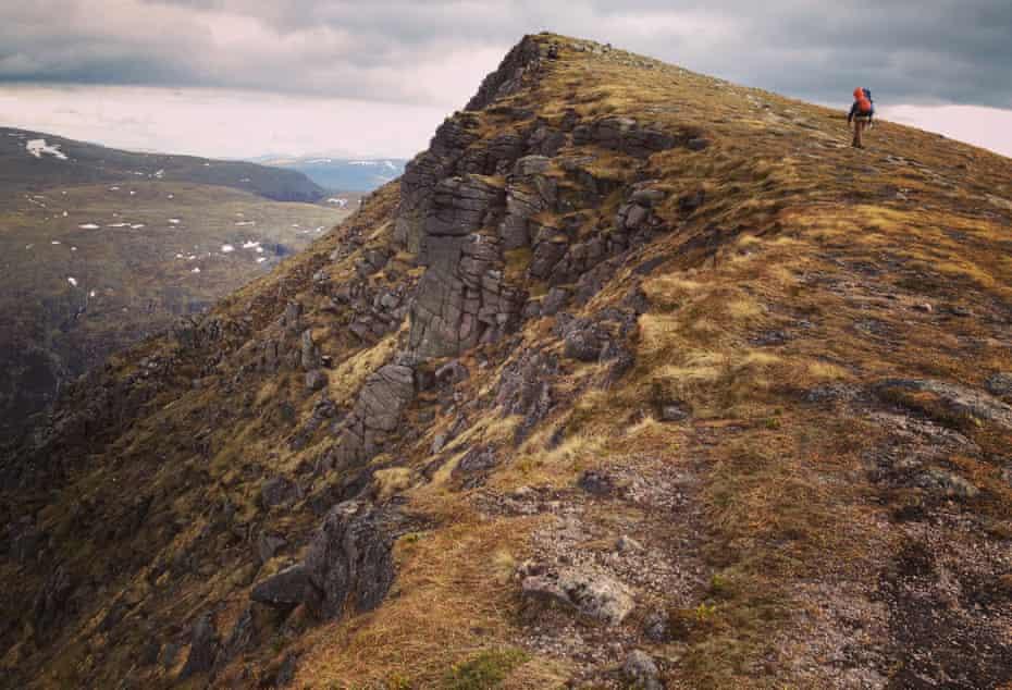 Caroline Eden's husband, James, in the Cairngorms