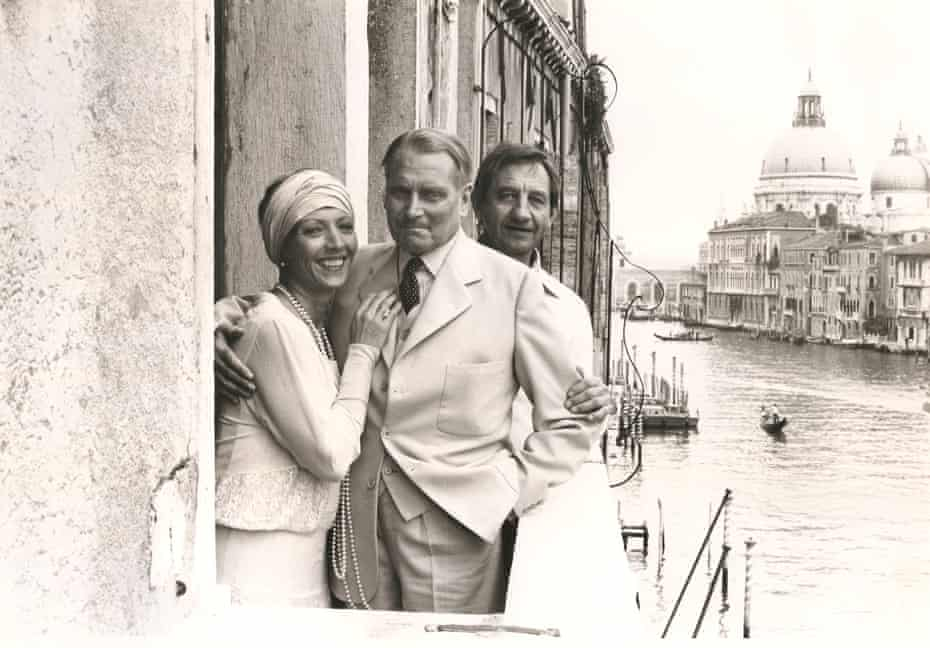 Stephane Audran, Olivier and Granger while shooting Brideshead Revisited in Venice.