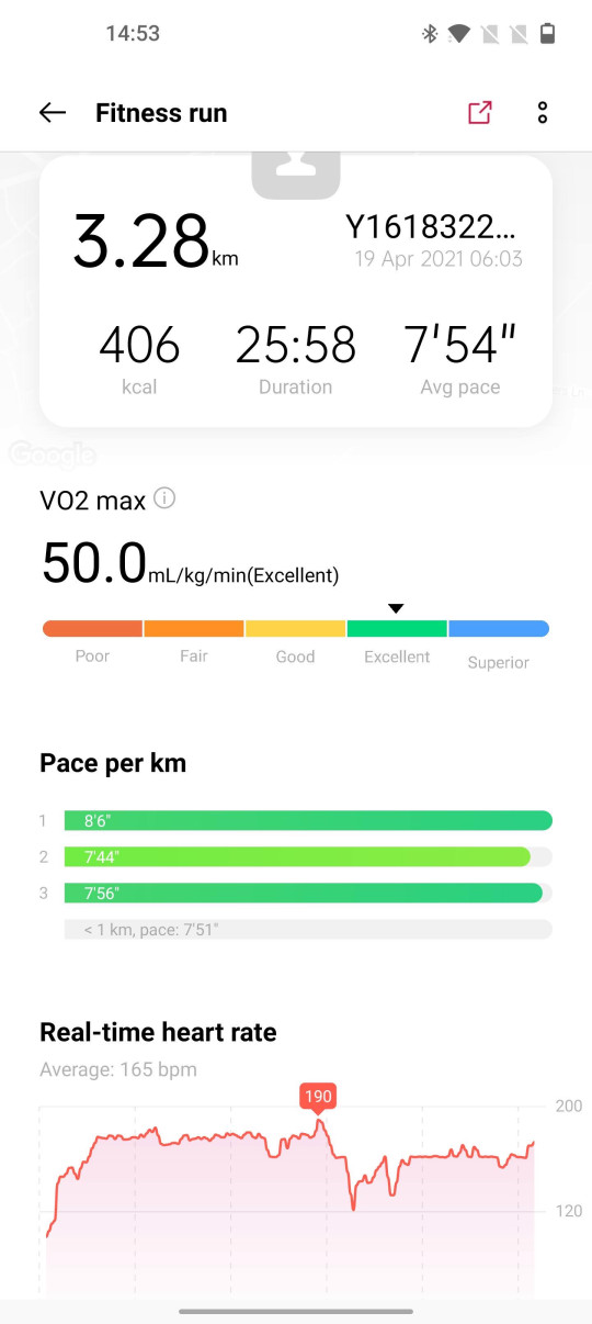 On the OnePlus Health app running on a OnePlus 9 Pro the data loaded as expected (Metro.co.uk)