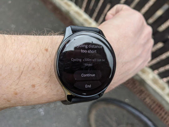 This happened every time I took a bike ride with the OnePlus Watch (Metro.co.uk)