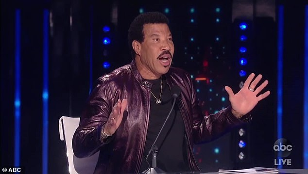 Hello singer:Lionel, 71, reminded Hunter that throughout his career, he'd had people say, ''Oh my God, Lionel. I was there the night you forgot the lyrics to Hello.'' And the crowd loved it!'