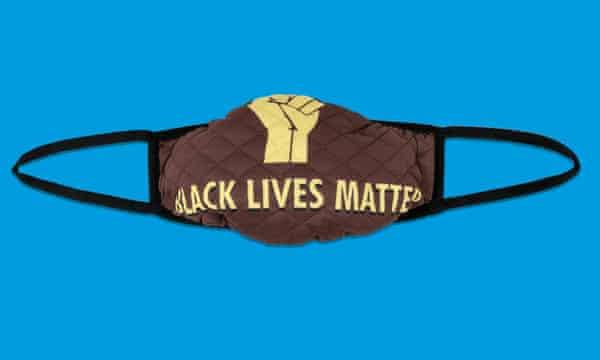 Black Lives Matter mask by Hoezine
