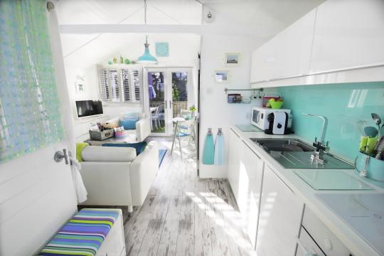 inside somerset beach house - full kitchen