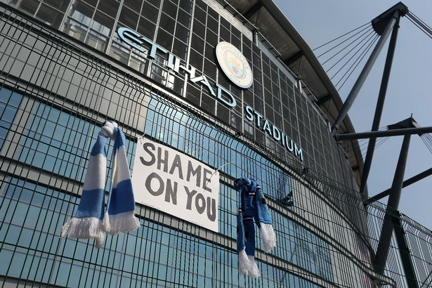 City fans had protested outside the Etihad