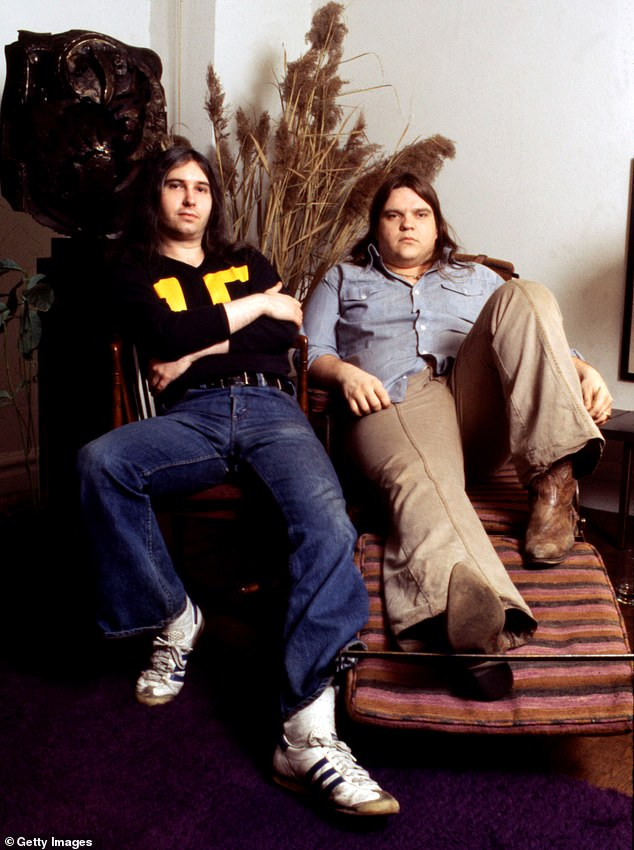 A great team: Jim was a big part of making Meatloaf's tune I'd Do Anything For Love (But I Won't Do That) a success. Seen in March 1978 in NYC