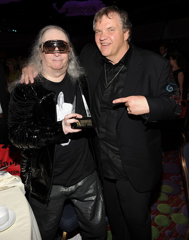 So sudden:The prolific hit-maker was rushed to the hospital on Sunday after an ambulance was called to his house at 3:30 am, according to TMZ that spoke with the state's medical examiner. Seen with Meatloaf in 2012