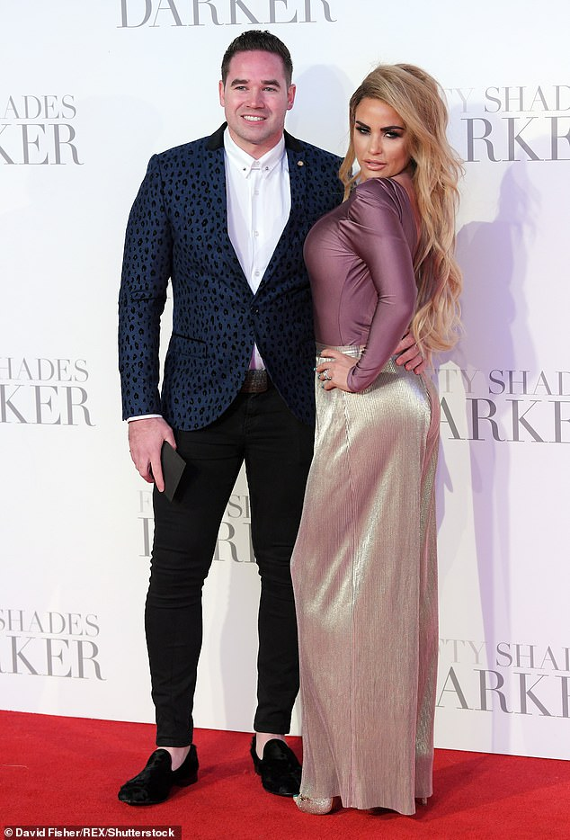 Moving on: It comes six weeks after Katie's divorce from her third husband Kieran Hayler was finalised, three years after their split