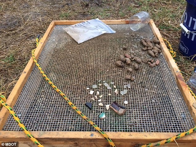 The team returned to the area in March to continue their search and unearthed a number of datable artifacts