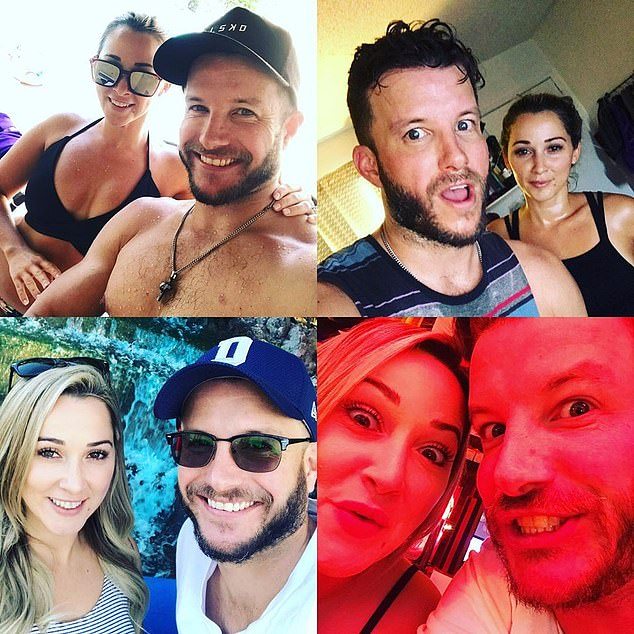 So loved-up: The couple were supposed to fly overseas to visit each other while Luke took up his role on Home and Away - but haven't been able to due to restrictions