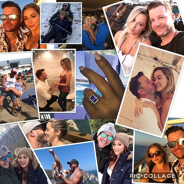 Heartwarming:Luke, 39, penned an emotional tribute to his wife on Instagram to mark the occasion - emotionally confirming he hadn't seen the 'love of his life' in '294 Days'