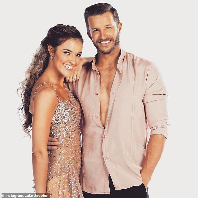 Wedding plans:Although Luke said they're yet to pencil in a wedding date, the talented dancer prepared for wedding planning just yet. 'I hope she doesn't want me to choreograph any dances for our wedding because that won't be happening,' he said. Picured, Luke on Dancing With The Stars with dancing partnerJorja Rae Freeman