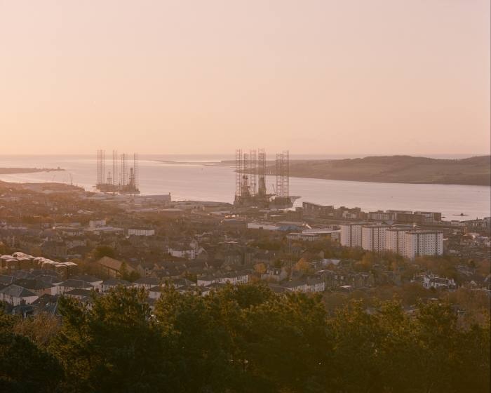 The view of the harbour and port from Dundee Law