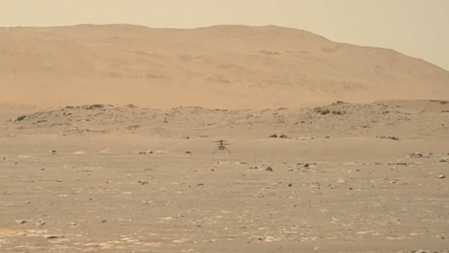 Nasa shares incredible video from Mars showing helicopter's first flight