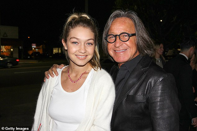 Proud papa: The 72-year-old businessman noted that Gigi 'never took a dollar from her parents' in a heartwarming post meant to celebrate her many accomplishments through the years; seen in 2015