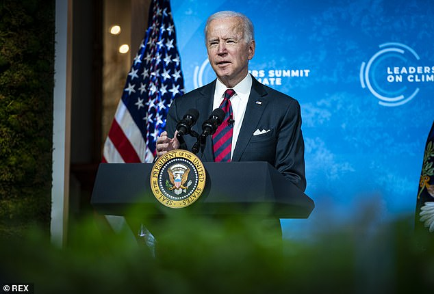 Joe Biden announced the goal to cut emissions by 2030, compared with 2005 levels, at the start of a two-day climate summit on Thursday