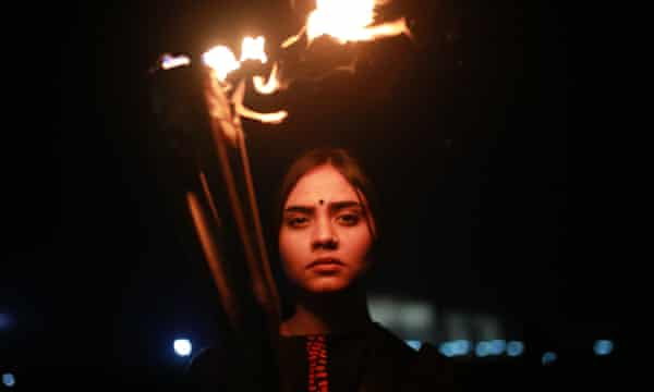 A protest in Dhaka demanding justice for rape victims
