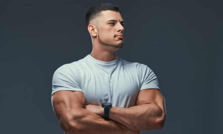 Portrait of a muscular bodybuilder