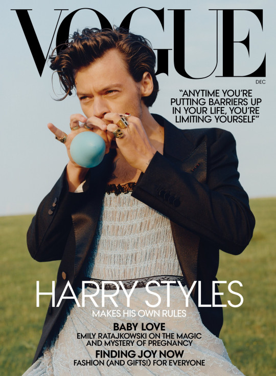 Harry Styles on Vogue cover.