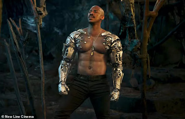Ready to go: A new trailer for Mortal Kombat featuring Mehcad Brooks as Jax Briggs debuted earlier this year
