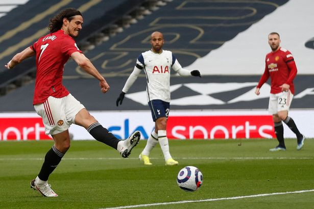 Edinson Cavani impressed in North London