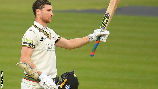 Gloucestershire's James Bracey makes a century against Somerset