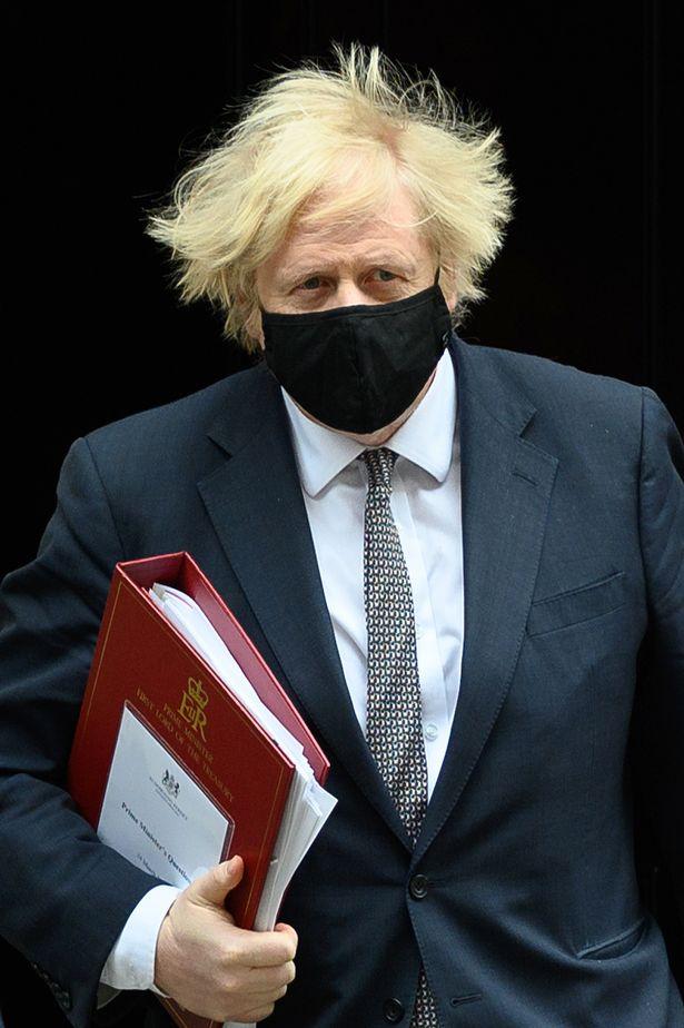 Boris Johnson outside No10