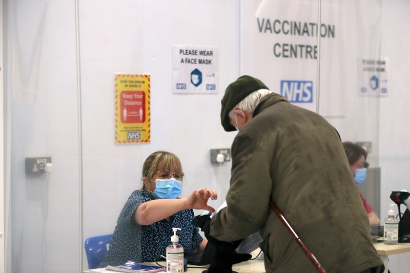 Britain says it has offered COVID-19 vaccine to all over-50s