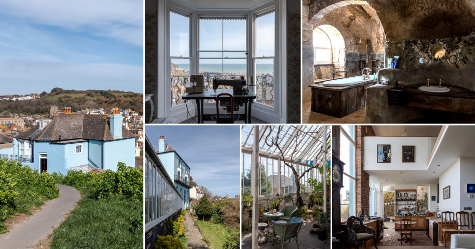 Stunning 19th century cliff-side property goes on sale at GBP 1.5million ?complete with CAVE bathroom