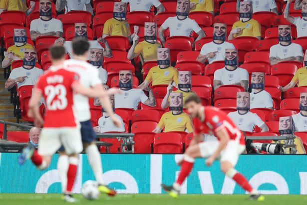 Real fans will replace the cardboard cutouts at Wembley