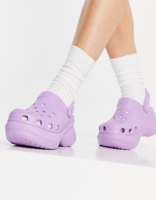 Lilac platform Crocs