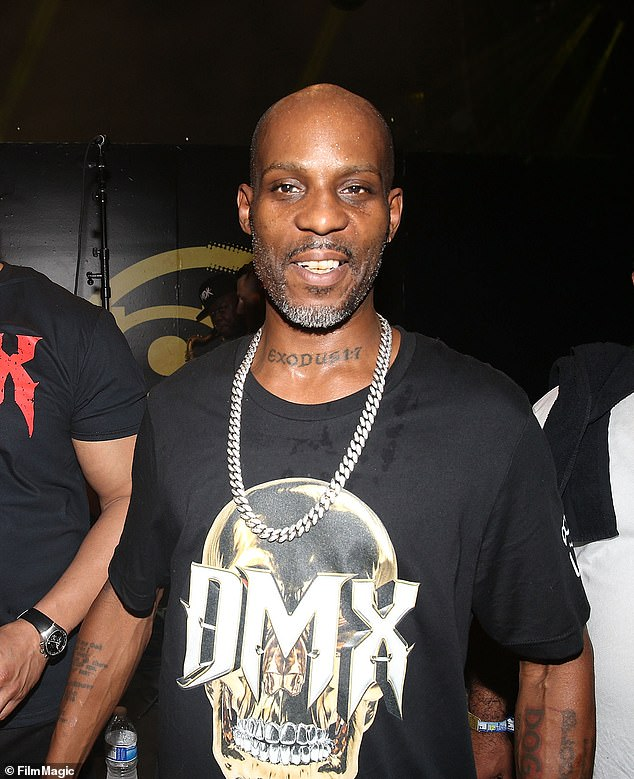 DMX dead at 50:The rapper - real name Earl Simmons - died aged 50 at White Plains Hospital on Friday after suffering a heart attack and reported overdose last week (pictured in 2017)