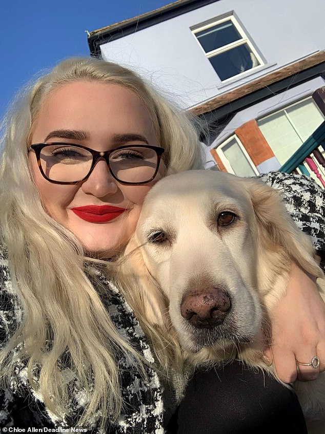 Chloe Allen, 22, (pictured) has issued a warning over deadly lord-and-ladies plants after her golden retriever Lola was left severely brain damaged and had to be put down