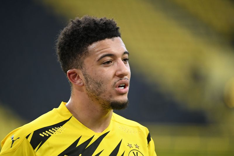 Dortmund's Sancho back in training before City clash