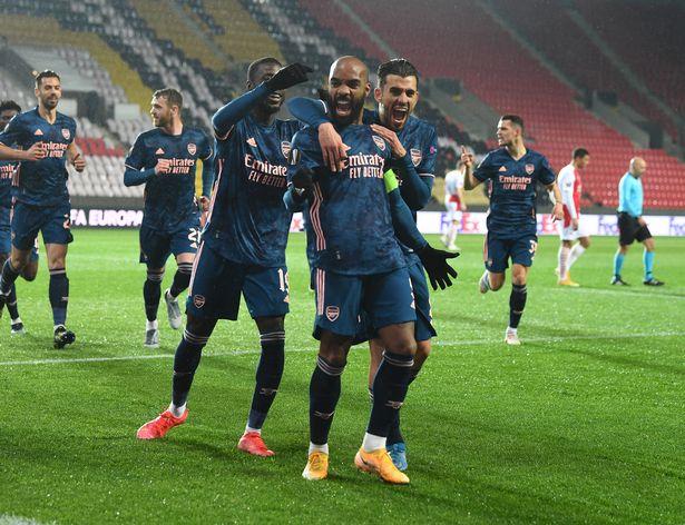 Arsenal won 4-0 on a stress-free night in Prague