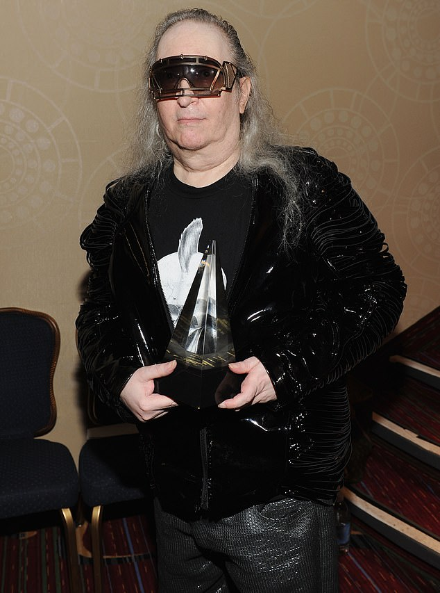 Sad loss:Legendary music writer and producer Jim Steinman who worked with top selling artists for decades died in Connecticut at the age of 73 on Monday. Seen in 2012 in NYC