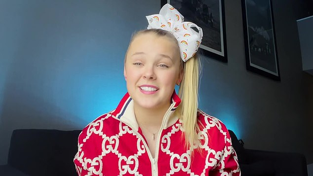 Happy camper: JoJo Siwa recently spoke about her 'amazing, wonderful' girlfriend Kylie Prew while serving as a presenter at the 32nd Annual GLAAD Media Awards on Thursday