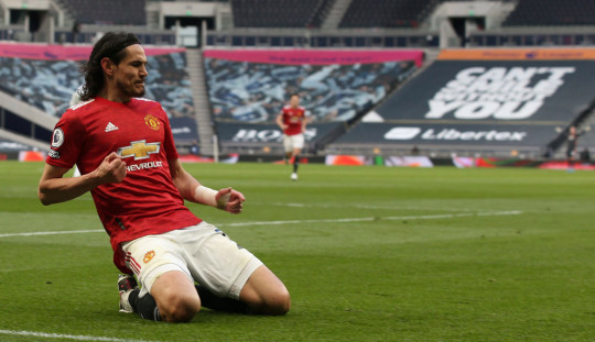 Edinson Cavani Tottenham Hotspur v Manchester United - Premier League