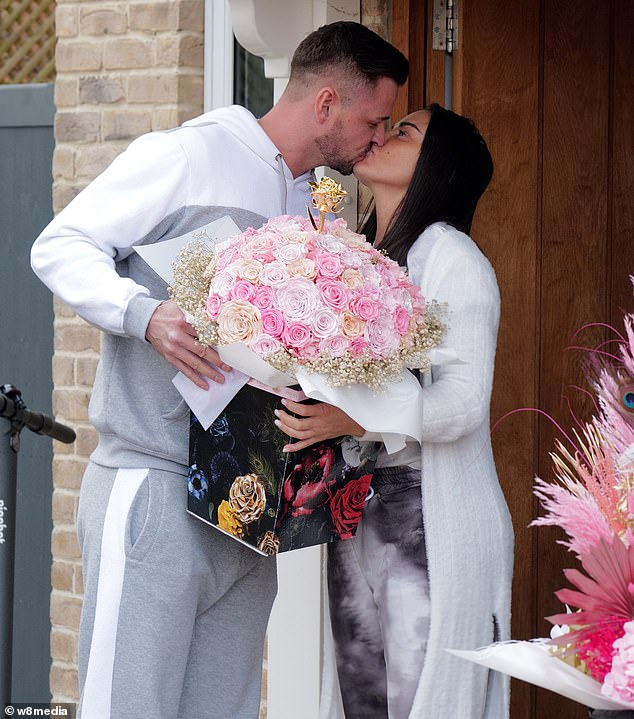 Wedding bells: Katie Price is reportedly engaged for the eighth time after her boyfriend Carl Woods popped the question (pictured on Valentine's Day)