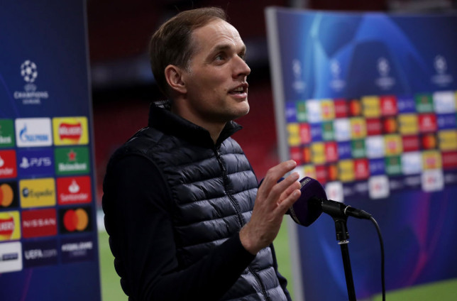 Thomas Tuchel, Manager of Chelsea talks to the media following the UEFA Champions League Quarter Final Second Leg match between Chelsea FC and FC Porto at Estadio Ramon Sanchez Pizjuan on April 13, 2021 in Seville, Spain. Sporting stadiums around Spain remain under strict restrictions due to the Coronavirus Pandemic as Government social distancing laws prohibit fans inside venues resulting in games being played behind closed doors.