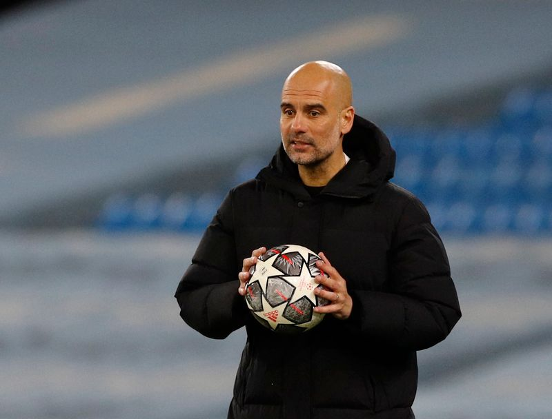 Man City's Guardiola tells players to ignore the maths ahead of Dortmund test
