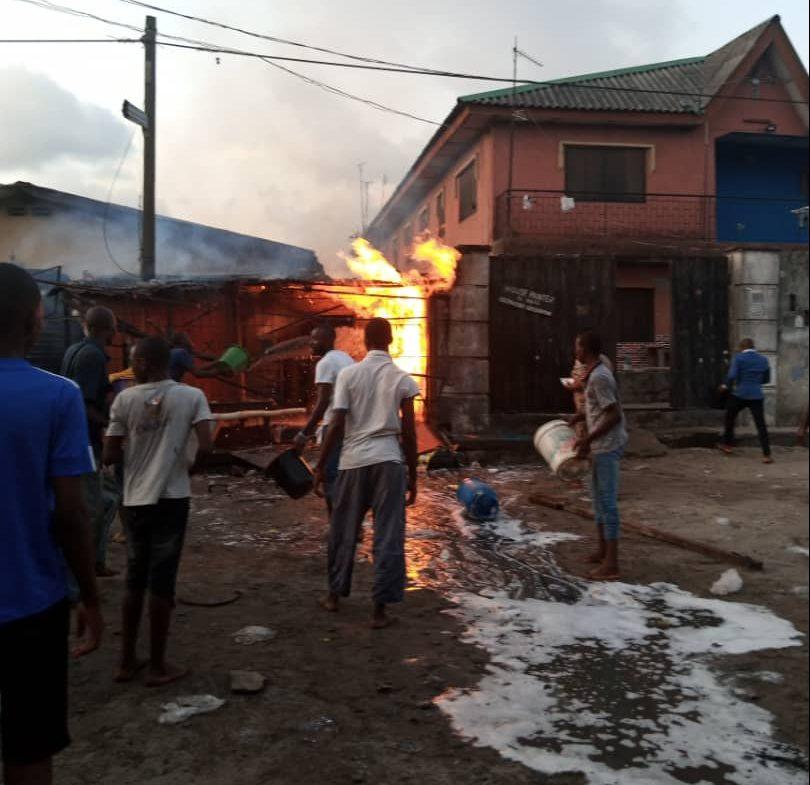 Gas explosion rocks Amuwo Odofin area of Lagos