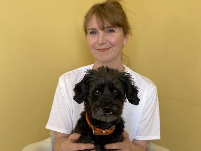 Mel Elliott with Dog Poppy