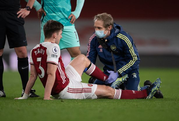 Kieran Tierney looks set to be ruled out for the rest of the season