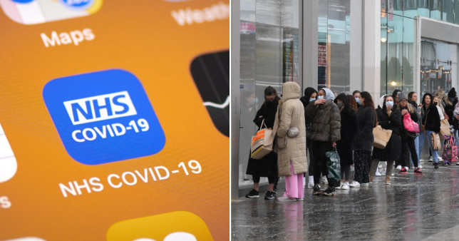 The NHS Covid-19 app had been due to receive an update today (Getty)