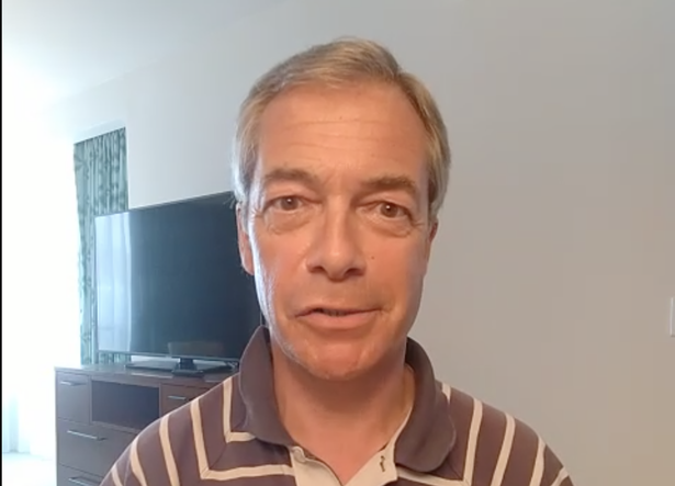Farage can do more than 20 videos in a session - at £75 a pop