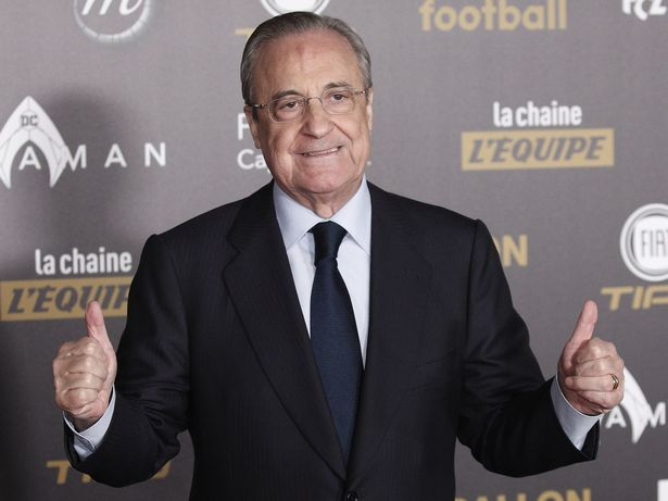 Real Madrid president and Super League chairman, Florentino Perez